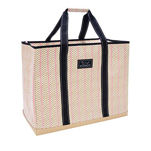 SCOUT 3 Girls Bag, Extra Large Water Resistant, Tote Bag, For the Beach, Pool and Everyday Use, Zips Closed, Cinnamon Stix