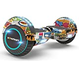 """Hoverboard Two-Wheel Self Balancing Electric Scooter 6.5"""" UL 2272 Certified, Print Coating with Bluetooth Speaker and LED Light (Super Hero)"""