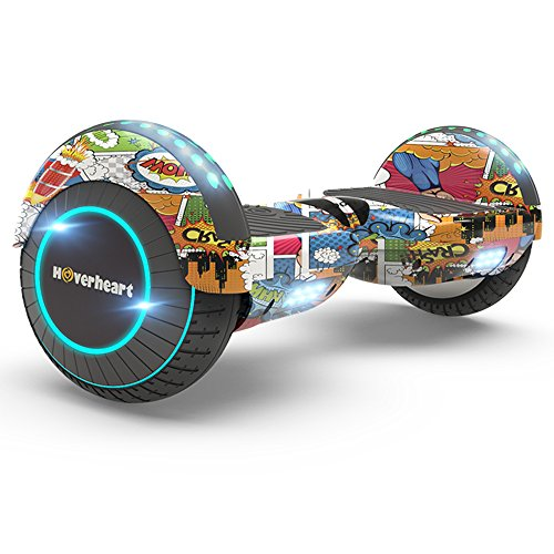 Hoverboard Two-Wheel Self Balancing Electric Scooter 6.5' UL 2272 Certified, Print Coating with Bluetooth Speaker and LED Light (Super Hero)