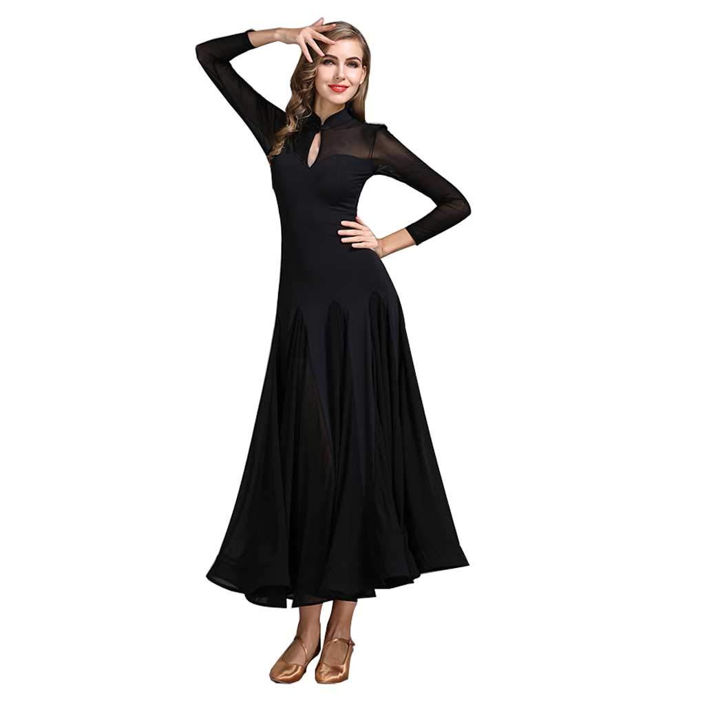 高級品市場 現代ダンススカートCheongsam M CollarアダルトドレスWaltz Acrobatic Acrobatic Skirt B07HF5PYBJ M|ブラック M|ブラック ブラック M, 京阪質店:626bfdbf --- shourya.co.in