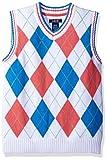 IZOD Kids Big Boys' Sweater Vest, White, SML