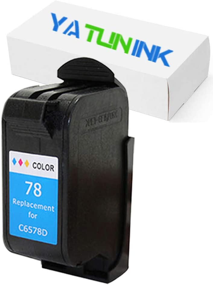 YATUNINK Remanufactured Ink Cartridge Replacement for HP 78 Tri-Color Ink Cartridge Compatible for HP Deskjet/Color Copier/Fax/Officejet/Photosmart/PSC Series Printer(1 Pack)