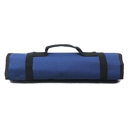 PIXNOR Funda enrollable para herramientas 22-bolsillo (azul)