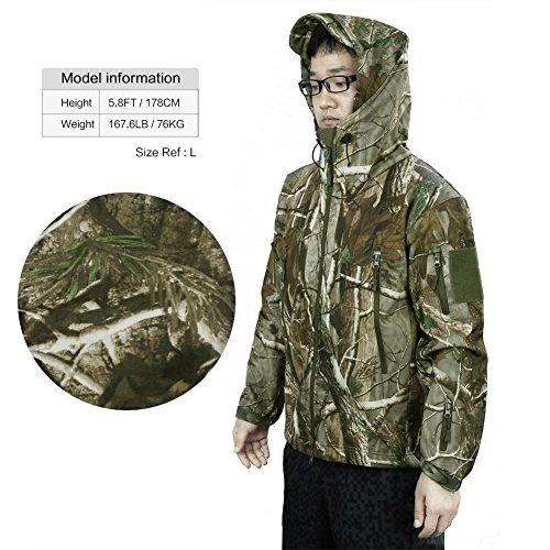 Longue Capuche Manches Veste À Softshell Camouflage Zicac Jacket CtOUpwq
