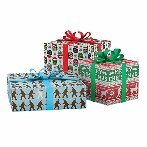 Accoutrements Super Awesome Christmas Wrapping Paper Book (Halloween Flat Paper)