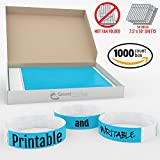 Grandstand Ink - 3/4in SKY BLUE Tyvek® Wristbands - Print & Writable Sheets in Distribution Box Paper Feel Party Event Bracelets For Churches or Schools 1000 ID Bands (100 Customizable Sheets) Per Box
