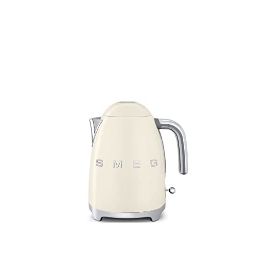 Smeg Klf03 Bluk Retro Style Kettle 1.7 Litre, 3000 W   Cream by Smeg