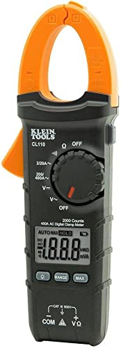 Klein Tools Digital Clamp Meter, AC Auto-Ranging 400 Amp