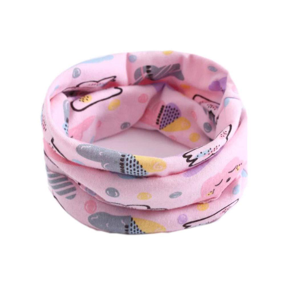 Mitlfuny Niñas Niños Invierno Cálido Pañuelos para el Cuello Unisex Bebé Recién Nacido Patrón de Diseño de Animales O Anillo Cuello Bufandas Lindo Chicas Chicos Babero