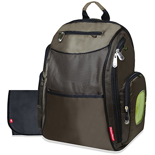 Fisher Price Fastfinder Diaper Backpack Brown