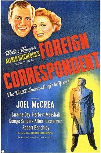 George Herbert Christmas - Foreign Correspondent Poster Movie 11x17 Joel McCrea Laraine Day Herbert Marshall George Sanders