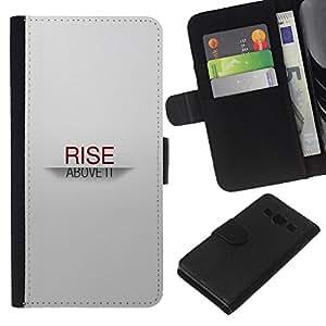 YiPhone /// Tirón de la caja Cartera de cuero con ranuras para tarjetas - SUBIDA SOBRE TI - Samsung Galaxy A3