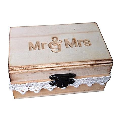 SODIAL (R) caja de anillo de señor y señora, caja de anillos de