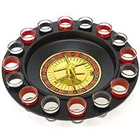 Bo-Toys Drinking Game Glass Roulette - Juego de beber juego (2 bolas y 16 vasos) Juego de beber estilo casino