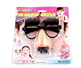 Funny Costume Halloween Big Nose Beard Glasses Disguise Eyebrows and Mustache Glasses Fake Nose Party Props