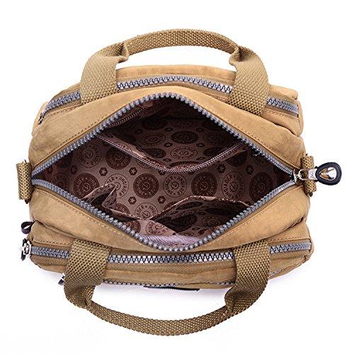 Bolso Deporte Outreo Casual Mujer Ligero Bandolera Mano Bag para Bolsas Pequeña Escuela Bolsas Impermeable Beige de Moda Bolso de de Sport zqxwtqfC