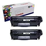 HIINK Compatible Toner Cartridges Replacement for HP Q2612A 12A use with HP Laserjet 1010 1012 1018 1020 1022 1022n 1022nw 3015 3020 3030 3050 3052(Black, 2-Pack)