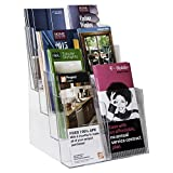 Clear-Ad - LHF-S84 - Acrylic 4 Tier Brochure Holder Organizer - Multiple Pocket Leaflet Rack - Table Top or Wall Mount 8.5 x 11 in Bulk (Pack of 4)