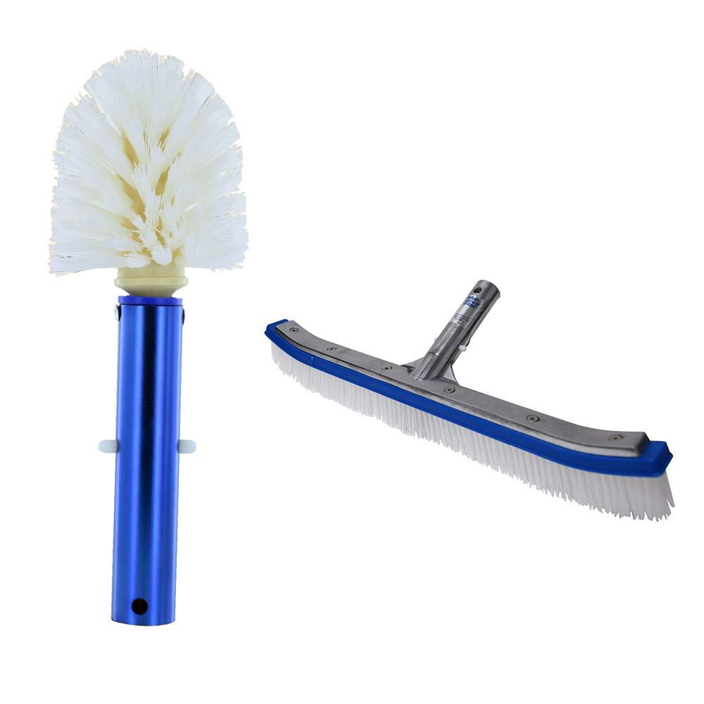 Blue Devil Pool Corner and Step Cleaning Brush and Wall Cleaning Brush Deluxe by Blue Devil