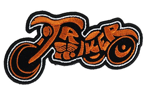 Orange Triker Cutout Patch 4 inch Patch (Trike Canvas)