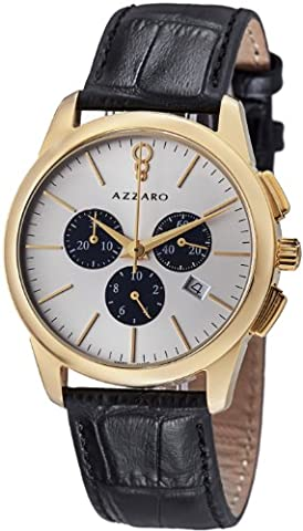 Azzaro Men's AZ2040.63SB.000 Legend Analog Display Swiss Quartz Black Watch (Azzaro Men Quartz)
