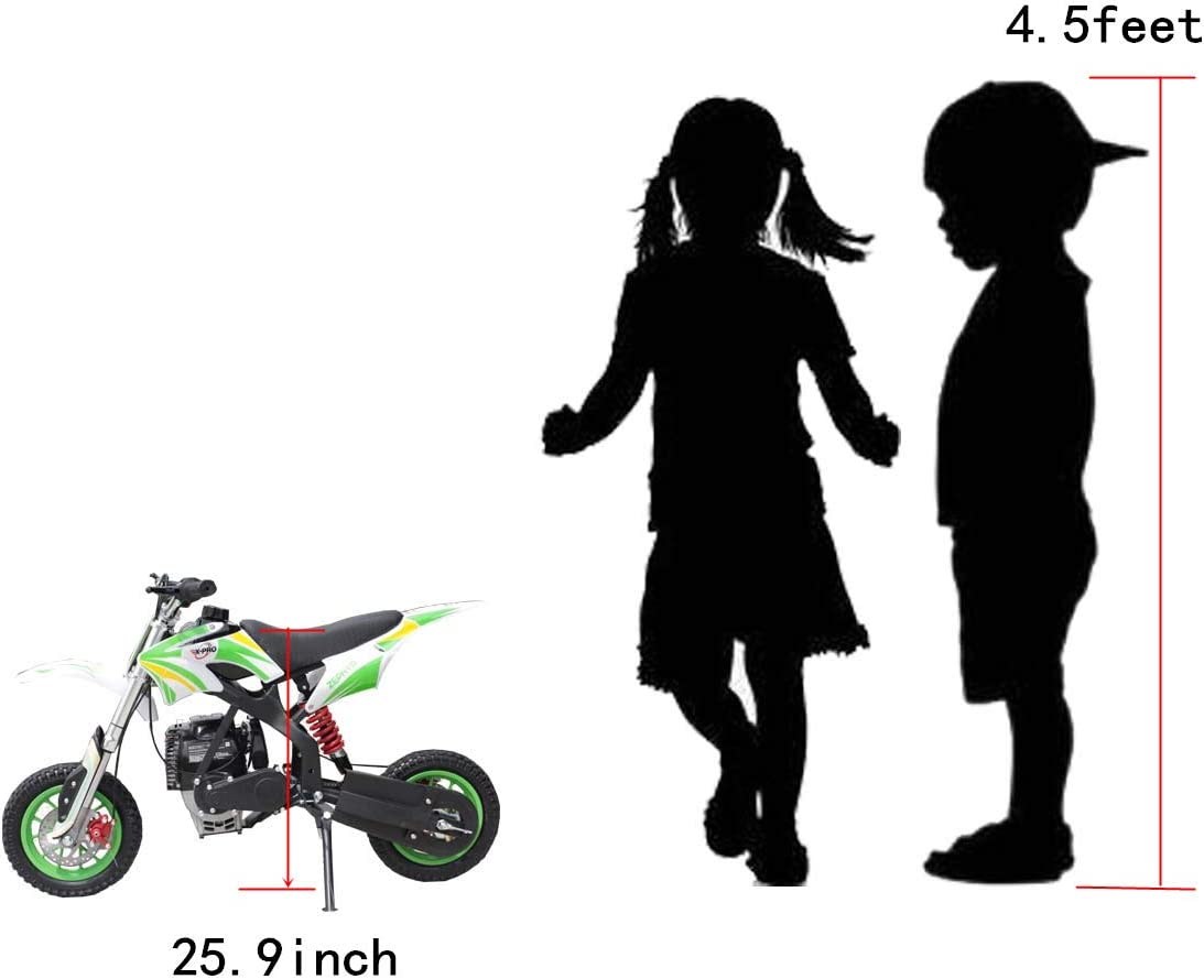 Red X-PRO Zephyr 40cc Kids Mini Dirt Bike Pit Bike Dirt Bikes Gas Power Bike Off Road Motorcycle