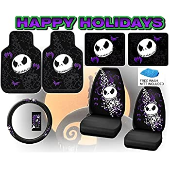 Nightmare Before Christmas Full Auto Interior Gift Set Front Rear Floor Mats Seat Covers