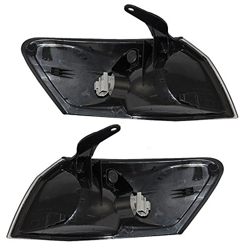 Driver and Passenger Park Signal Corner Marker Lights Lamps Lenses Replacement for Toyota 81520-AA010 81510-AA010