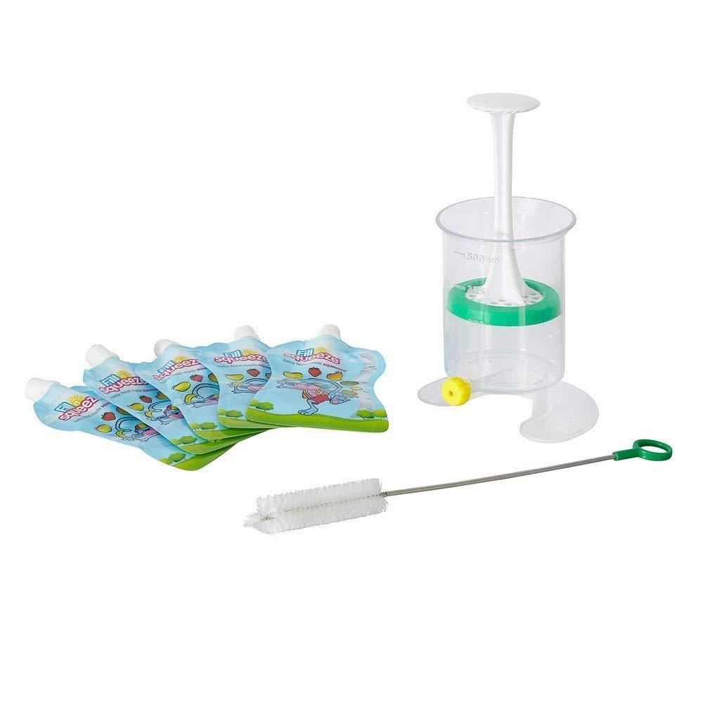 alimentos beb/és refrigerios y viajes Fill n Squeeze,sistema bolsas de destete