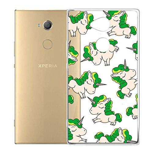 Funda para Sony Xperia XA2 Ultra , IJIA Transparente Verde Pequeño Cute Pet TPU Silicona Suave Cover Tapa Caso Parachoques Carcasa Cubierta para Sony Xperia XA2 Ultra (6.0) WM140