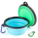 IDEGG Portable Silicone Pet Bowl, 5 Inches, Foldable Expandable Water Feeding Travel Bowl Cup Dish for Pet Dog Cat and Small Animals
