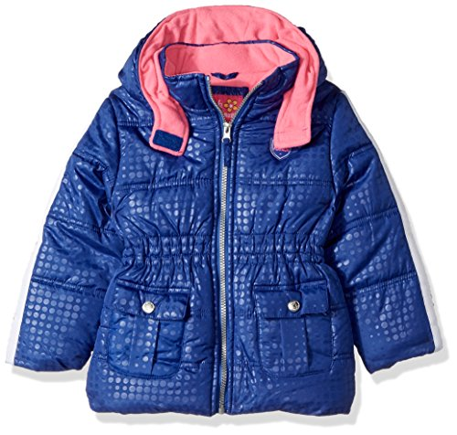Pink Platinum Girls' Little Tonal Dot Active Puffer, Royal 4