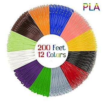amazon com 3d pen filament refills 12 unique colors 20