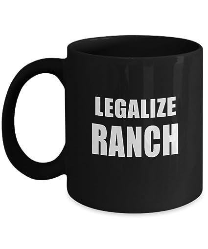 Amazon.com: Legalize Ranch Mug Acrylic Coffee Holder Black 11oz ... #blackCoffee