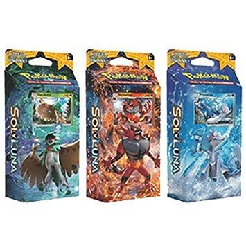 Coleccion de Mazos de Pokemon Sol y Luna: Amazon.es ...