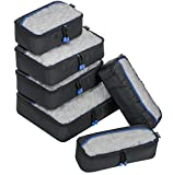 ZOMAKE Packing Cubes 6pcs Set Travel Accessories Organizers...