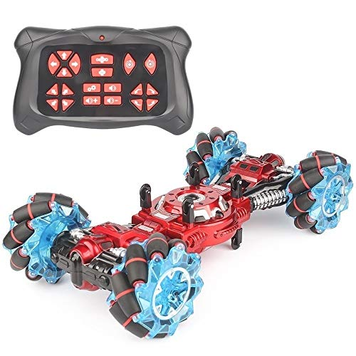 Poooc Kids Rc Car Toys, stunt 360°Rotation & Flip Double Side High Speed  vehicle deformation of body with lighting and music Off-road Remote Control