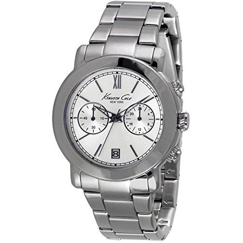 Kenneth Cole Men's Steel Bracelet & Case Quartz Silver-Tone Dial Analog Watch 10026395