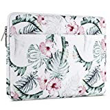 MOSISO 360° Protective Laptop Sleeve Compatible 13-13.3 Inch MacBook Air, MacBook Pro Retina, Surface Book, Surface Laptop, Polyester Shockproof Bag with Accessory Pocket, Banana Leaf