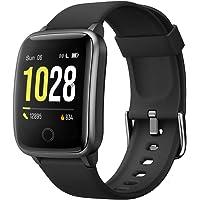 Willful Smartwatch,Pantalla de 1,3 Pulgadas Reloj Inteligente Impermeable IP68 con Pulsómetros para Mujer Hombre…