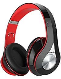 Bluetooth Headphones Over Ear, Hi-Fi Stereo Wireless Headset, Foldable, Soft Memory-Protein Earmuffs, w/ Built-in Mic and Wired Mode for PC/ Cell Phones/ TV