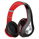 Image of Mpow 059 Bluetooth Headphones Over Ear, Hi-Fi Stereo Wireless Headset, Foldable, Soft Memory-Protein Earmuffs, w/ Built-in Mic and Wired Mode for PC/ Cell Phones/ TV