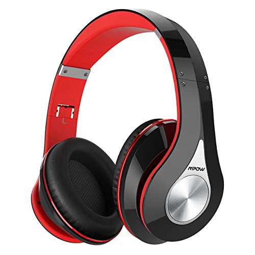 Mpow 059 Bluetooth Headphones Over Ear, Hi-Fi Stereo Wireless Headset, Foldable, Soft Memory-Protein Earmuffs, w/Built-in Mic and Wired Mode for PC/Cell - Over Ear Headphones Bluetooth