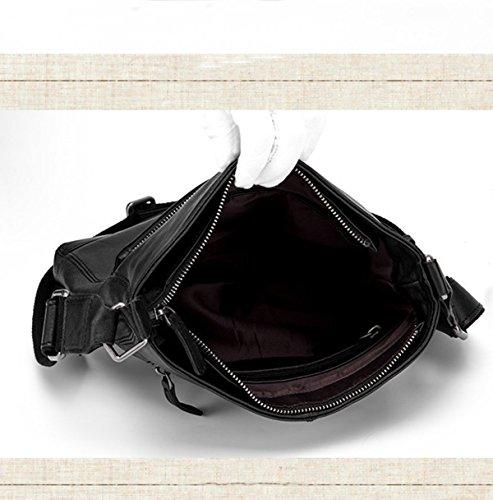 Cuadrado Negro De Cruce Bolsa Vendimia De Calidad Black Esencial Hombres Plana La Bolso De La awOqSa