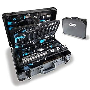 WZG Werkzeug 102 Piece Hand Tool Set Mechanics Kit Including Spanner &Socket Set – Ideal for Workshop & Garage