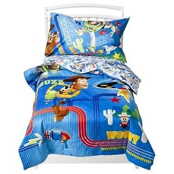 disney toy story lazer blast 4 piece toddler bed set - Toy Story Toddler Sheets