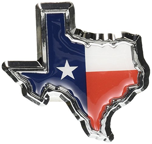 Texas Flag in Shape of Texas Chrome METAL Auto ()