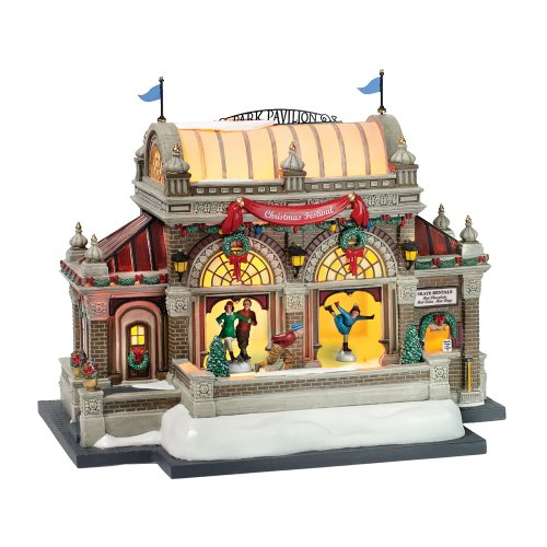 Dept 56 Christmas in the City **Christmas At Lakeside Park Pavilion** (59267) (Village Lakeside)