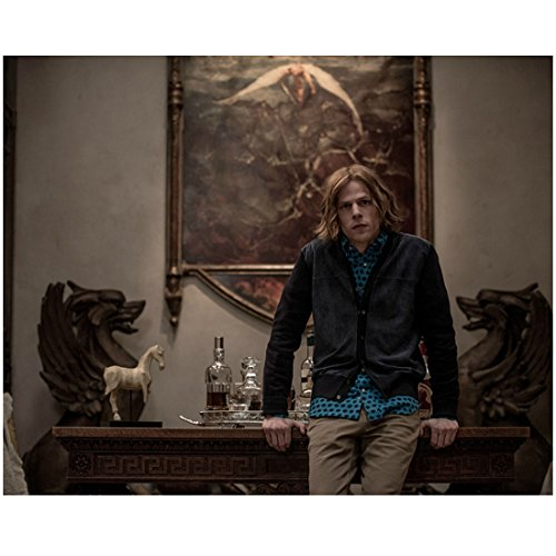 Batman V Superman: Dawn of Justice (2016) (8 inch by 10 inch) PHOTOGRAPH Jesse Eisenberg Black Jacket Over Blue Shirt Leaning Against Credenza kn (Black A/v Credenza)