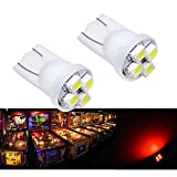 PA 25PCS #555 T10 4SMD LED Pinball Machine Light Bulb Red-6.3V